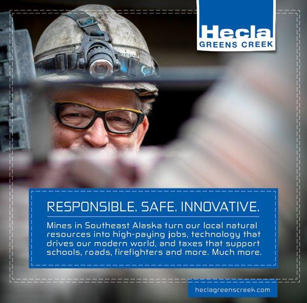 Hecla Greens Creek print ad